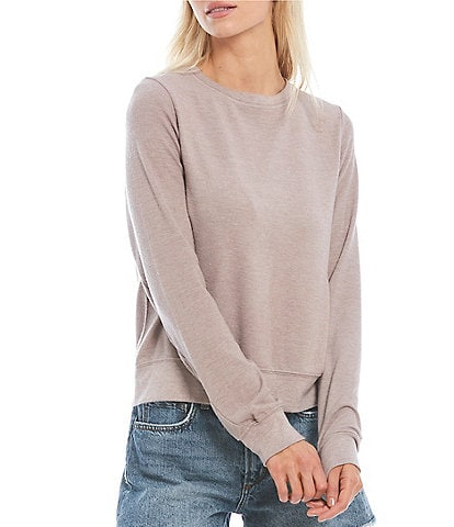 WILDFOX Long Sleeve Crew Neck Coordinating Pullover Top