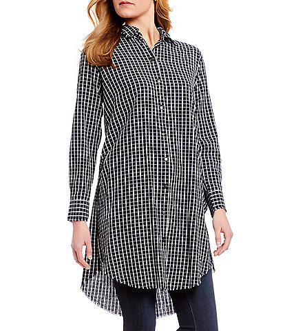 William Rast Angel Long Sleeve Checked Button Front Shirt