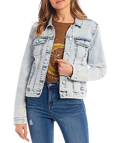 Frayed Classic Denim Jacket