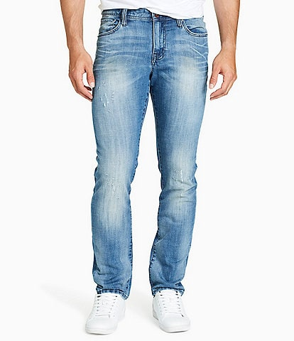 William Rast Dean Slim-Fit Straight-Leg Stretch Denim Jeans