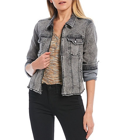 William Rast Farrah Zip-Front Denim Jacket