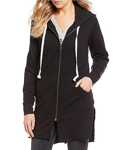 William Rast Maison Long Zip-Up Hoodie
