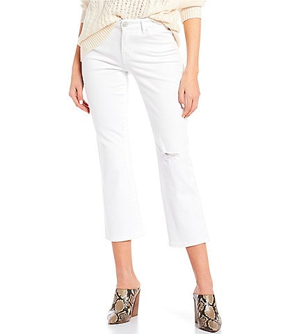 William Rast Mid Rise Cropped Bootcut Jeans