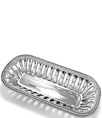 Wilton Armetale Flutes & Pearls Bread Basket