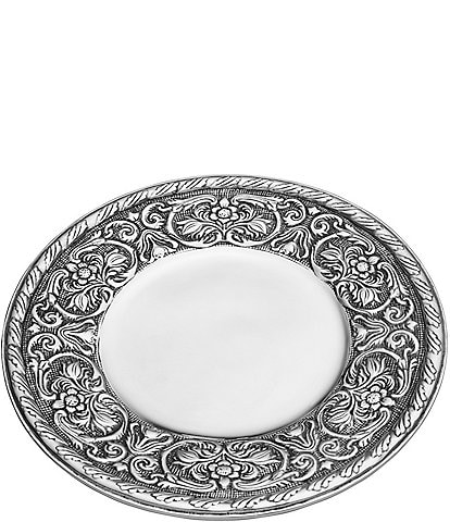 Wilton Armetale William And Mary Round 13#double; Tray