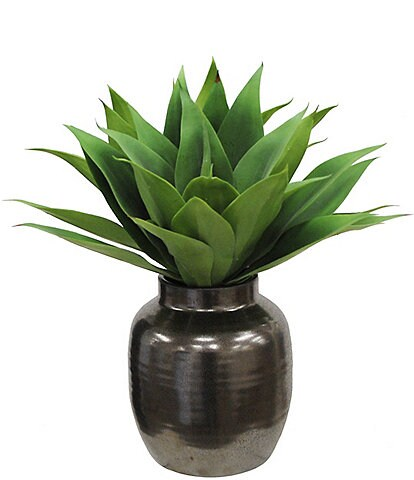 Winward Faux Flowers Aloe In Ceramic Pot