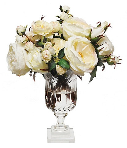Winward Permanent Botanicals Mix Rose In Tall Leaf Cut Vase