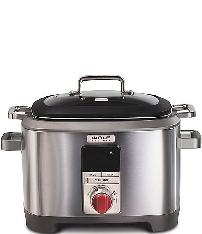 Wolf Gourmet 7 QT. Multi-Function Cooker with Red Knob