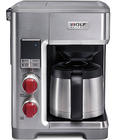 Wolf Gourmet Automatic Drip Coffeemaker With Red Knob