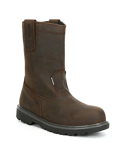 Wolverine Men's Floorhand 10#double; Waterproof Steel Toe Slip Resistant Wellington Work Boot