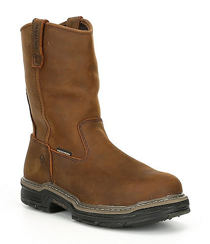 Wolverine Men's Marauder Steel Toe Waterproof Slip Resistant 10#double; Wellington Work Boot