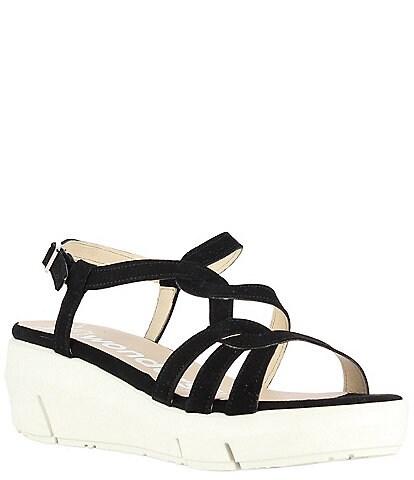Wonders Lynn Suede Extra Light Platform Wedge Sandals