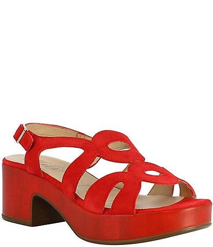 Wonders Pam Suede Slingback Dress Sandals