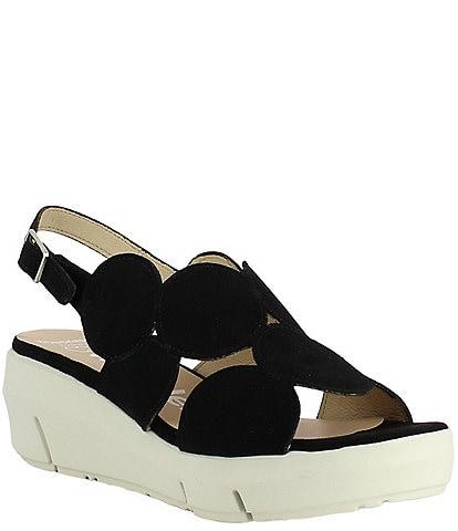 Wonders Vinni Suede Extra Light Platform Wedge Sandals