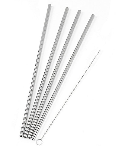 w&p Porter Stainless Steel Set of 4 Straw Set