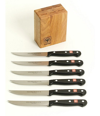 Wusthof Gourmet 7-Piece Steak Knife Block Set