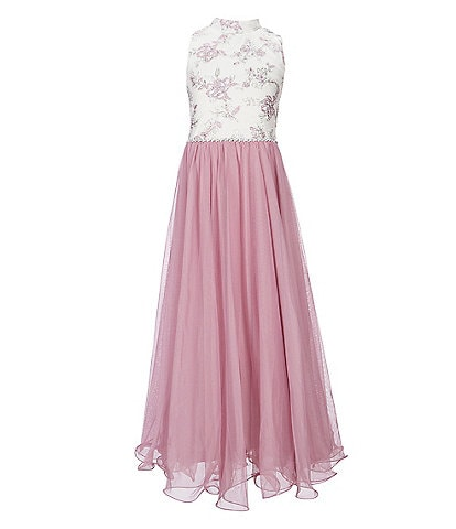 Xtraordinary Big Girls 7-16 Caviar-Beaded/Wire-Edge-Hem Ball Gown