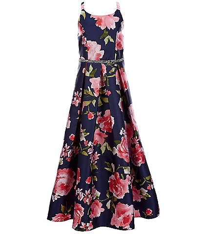 Xtraordinary Big Girls 7-16 Floral Pleated Long Dress