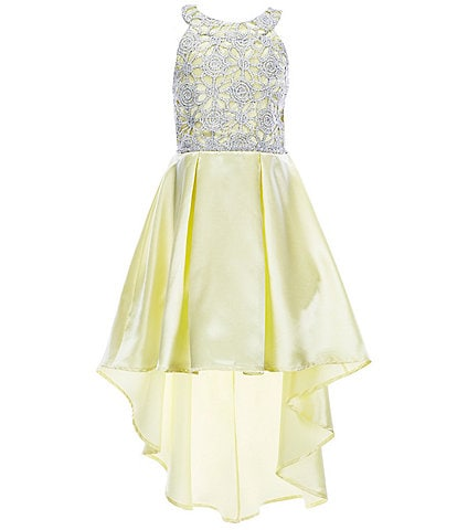 Xtraordinary Big Girls 7-16 Lace/Satin Hi-Low Dress