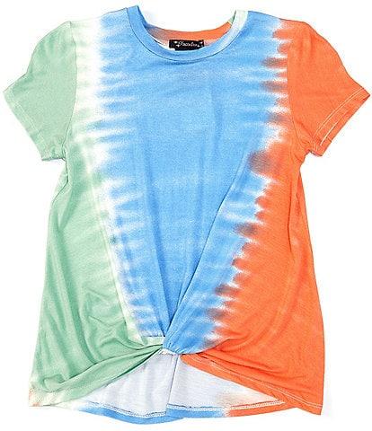 Xtraordinary Big Girls 7-16 Short-Sleeve Tie-Dye Twist-Hem Tee
