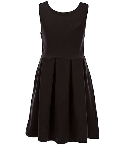 Xtraordinary Big Girls 7-16 Side-Pocket Fit-And-Flare Dress