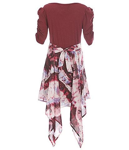 Xtraordinary Big Girls 7-16 Solid/Striped Sharkbite-Hem Dress