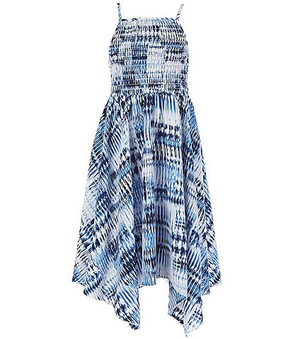 Xtraordinary Big Girls 7-16 Tie-Dye Sharkbite Fit-And-Flare Dress