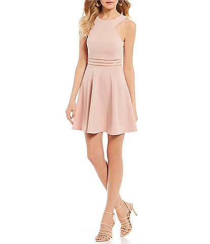 Xtraordinary Illusion Waist Fit-And-Flare Dress