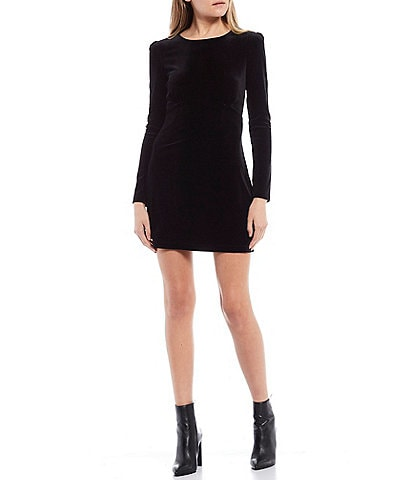 Xtraordinary Long-Sleeve Velvet Sheath Dress