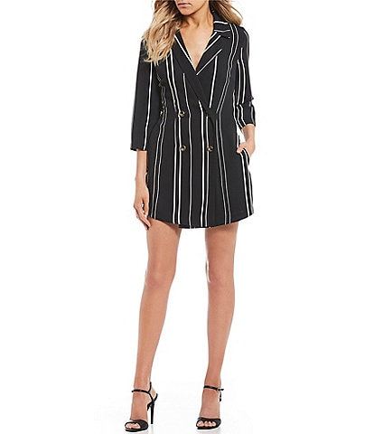 Xtraordinary Striped Suit Jacket Romper