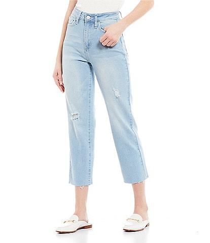 YMI Jeanswear High Rise Cropped Straight Jeans