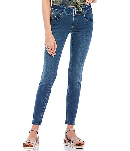 YMI Jeanswear Triple Button Wannabettabutt Repreve Sustainable Skinny Jeans