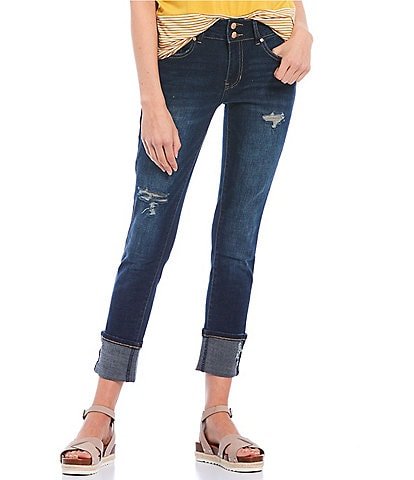 YMI Jeanswear Two Button Mega Cuff Skinny Jeans