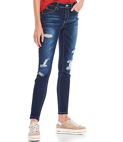 YMI Jeanswear Wannabettabutt Repreve Sustainable Destructed Ankle Skinny Jeans