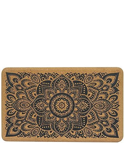 Yoga Design Lab Cork Mandala Black Yoga Block