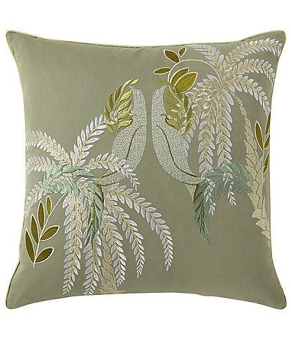 Yves Delorme Complice Embroidered Square Pillow