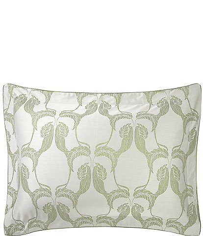 Yves Delorme Complice Foliage and Birds interplay Damask Sham