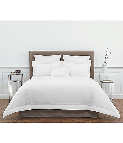 Yves Delorme Lutece Embroidered Cotton Sateen Duvet
