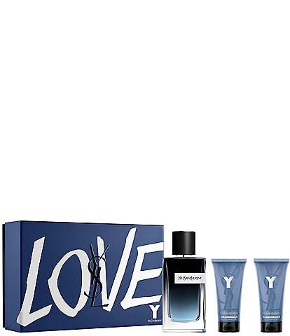 Yves Saint Laurent Beaute Y Eau de Parfum 3 Piece Men's Gift Set