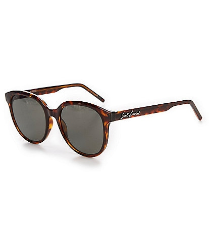 Saint Laurent Tortoise Round Sunglasses