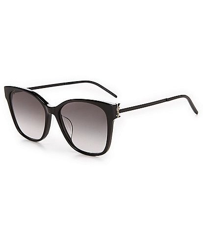 Saint Laurent Oversize Logo Square Sunglasses