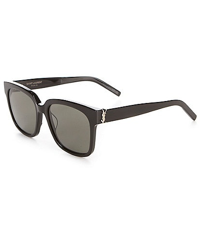 Saint Laurent Square Logo Acetate Sunglasses