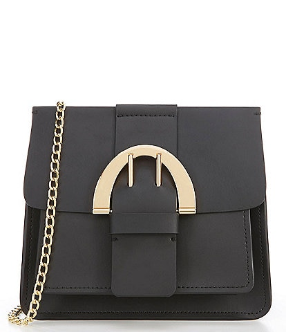 ZAC Zac Posen Biba Buckle Chain Leather Crossbody Bag