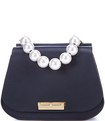 ZAC Zac Posen Chantalle Saddle Pearl Crossbody Bag