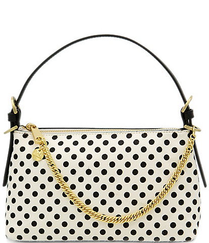 ZAC Zac Posen Dot Top Zip Baguette Bag