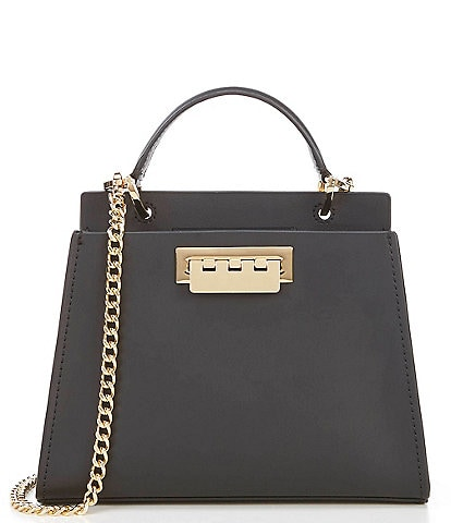 ZAC Zac Posen Eartha Double Comp Mini Leather Satchel Bag