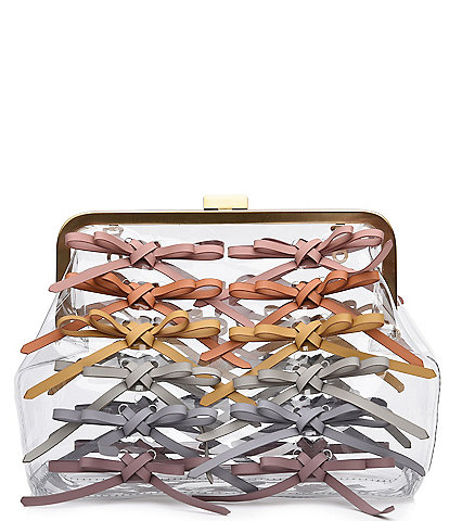 ZAC Zac Posen Lacey Clear Frame Clutch Bag
