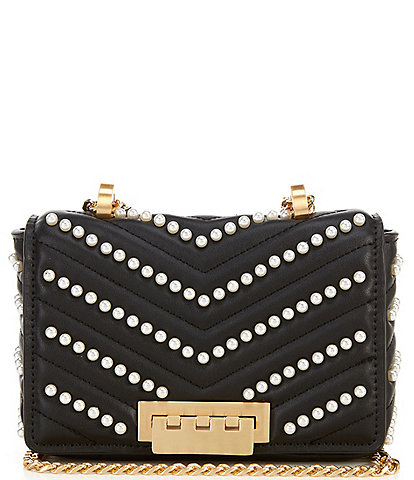 ZAC Zac Posen Soft Earthette Quilted Leather Mini Chain Shoulder Bag