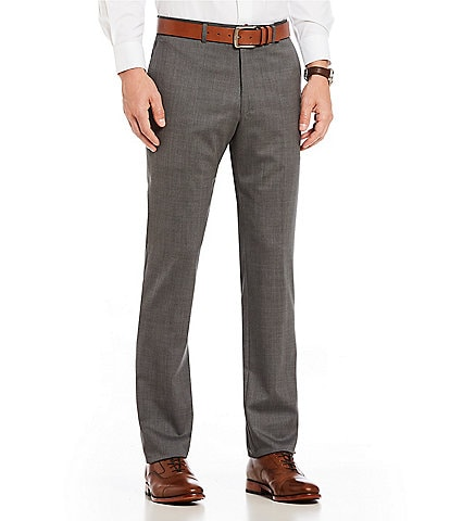 PN12 by Zanella Modern Fit Flat Front Solid Dress Pants