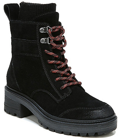 Zodiac Chance Lace-Up Suede Water Repellent Lug Sole Combat Booties